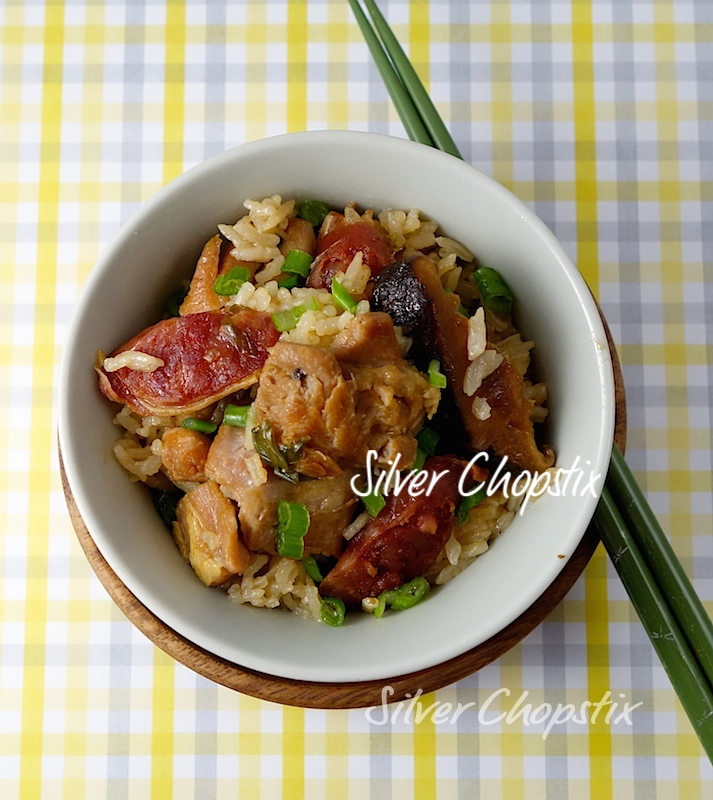 "Rice cooker ""clay pot"" chicken rice"
