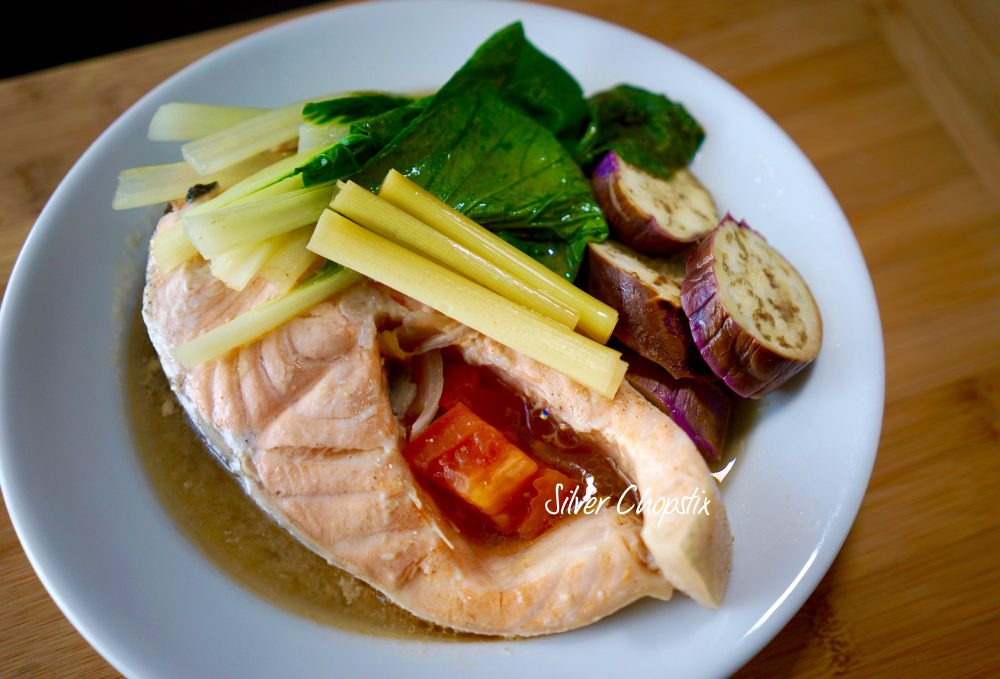 Salmon Sinigang with Miso