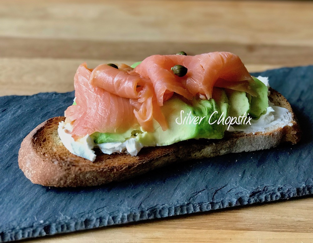 Smoked Salmon Avocado and Cream Cheese on Toast