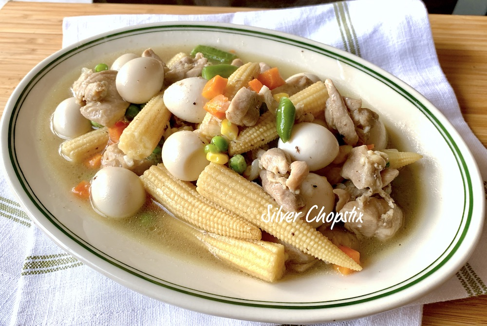Chicken with Quail Eggs