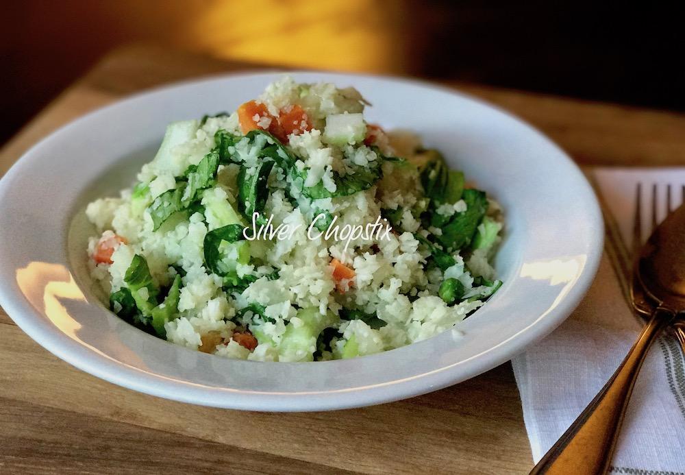 Cauliflower Fried Rice with Bok Choy