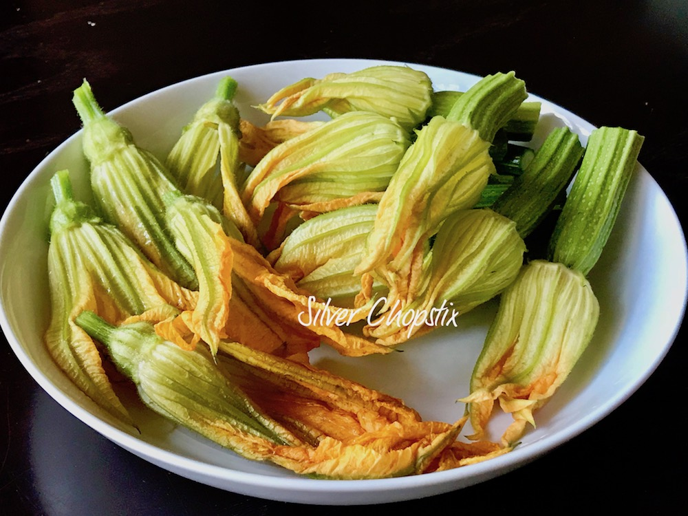 Zucchini Blossoms Three Ways