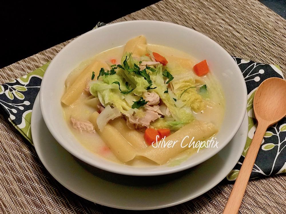 Filipino Sopas from leftover Turkey
