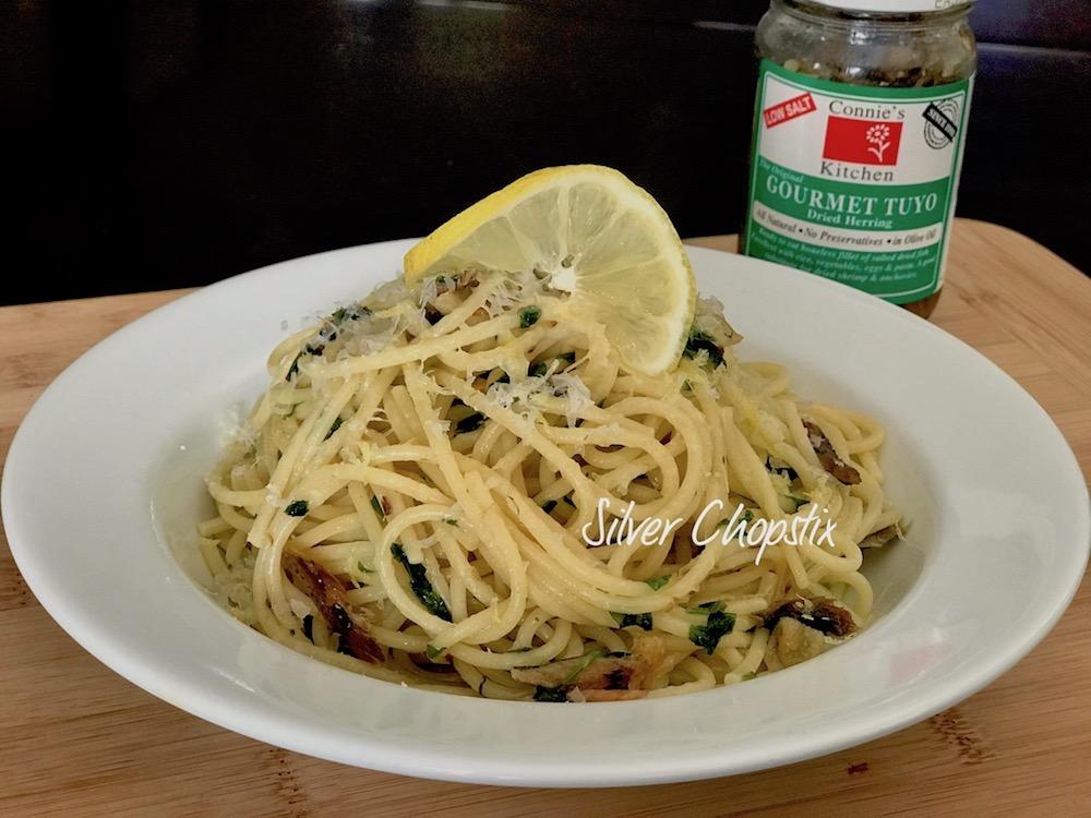 Pasta with Garlic Oil and Tuyo