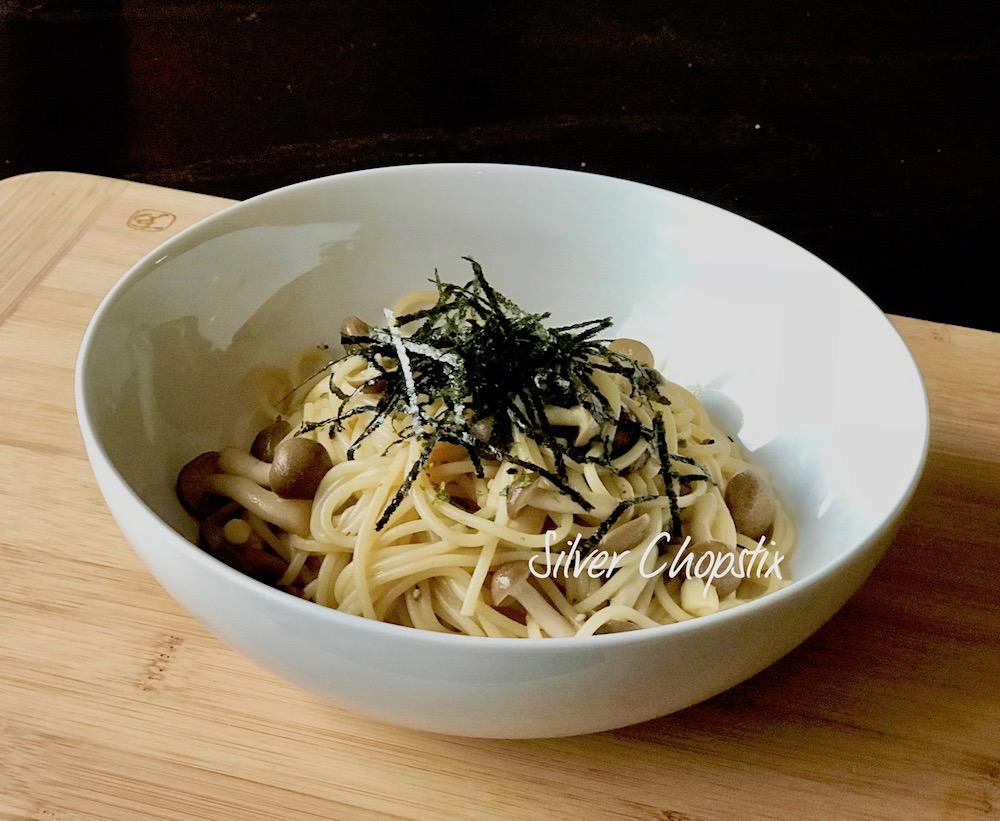 Wafu Pasta (Japanese Style Pasta with Shimeji Mushrooms)