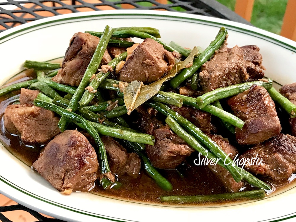Pork Adobo with Sitaw (Long Beans)