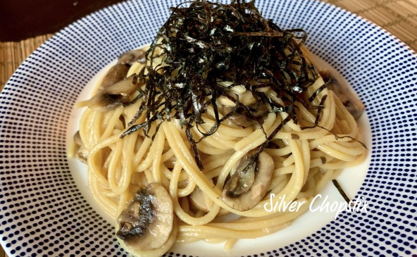 Shoyu Butter Pasta with Mushrooms